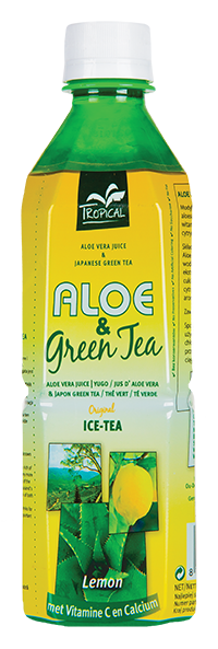Tropical Aloe Vera & Green Tea Lemon 500 ml - Cytryna