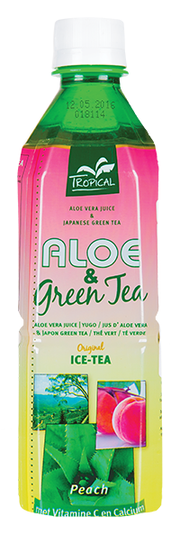 Tropical Aloe Vera & Green Tea Peach 500 ml - Brzoskwinia
